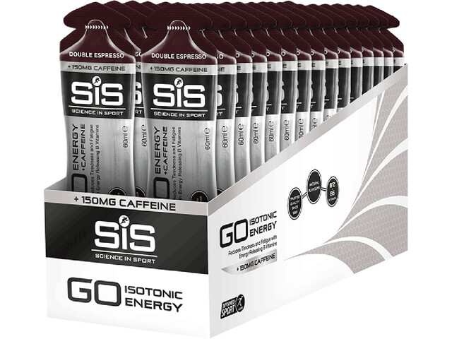 SiS GO Energy + Caffeine Gel Sacoche 30x60ml, Double Espresso